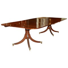 George III Double Pedestal Mahogany Dining Table