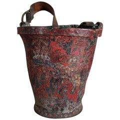 George III Early 19th Century Leather Fire Bucket