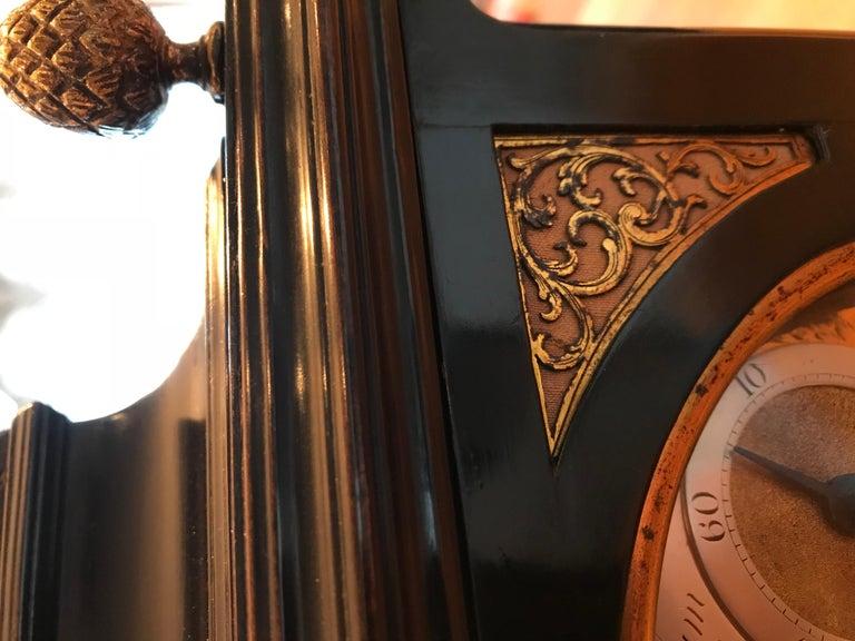 18th Century Antique Ebonized Bracket Clock by William Allam of London