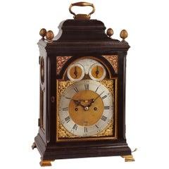 George III Ebonized Bracket Clock by William Allam, London