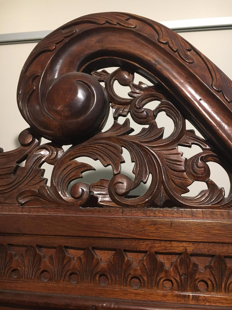 George III England Antique Mahogany Secretaire Secretary Desk Bureau Bookcase  For Sale 10