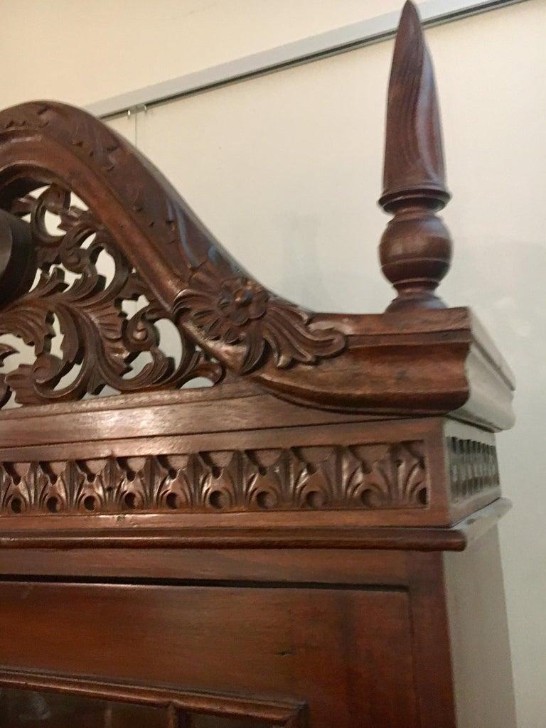 George III England Antique Mahogany Secretaire Secretary Desk Bureau Bookcase  In Good Condition For Sale In West Hartford, CT