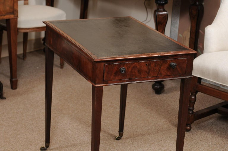 George III English Architects Mahogany Side Table, circa 1790 In Good Condition For Sale In Atlanta, GA