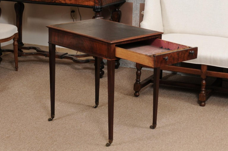 Brass George III English Architects Mahogany Side Table, circa 1790 For Sale