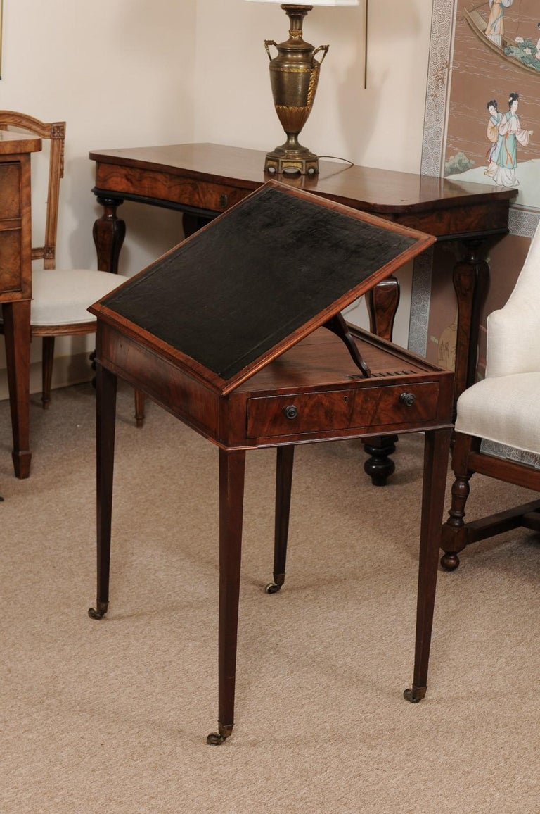 George III English Architects Mahogany Side Table, circa 1790 For Sale 2