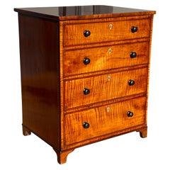 George III Fiddleback Mahogany Side Cabinet