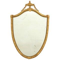 George III Gilt Gesso Mirror in the Manner of George Hepplewhite