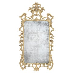 George III Chippendale Period Giltwood Mirror in the Manner of Thomas Johnson