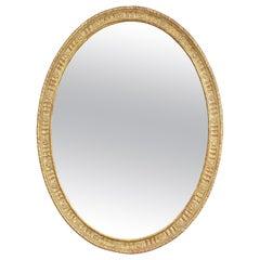 George III Giltwood Oval Mirror
