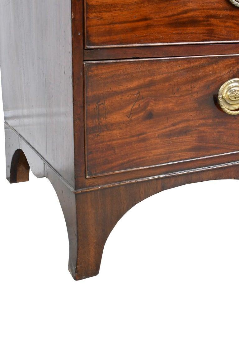 George III/ Hepplewhite Bookcase in Mahogany, Drawer-Front Secretary, circa 1810 For Sale 4