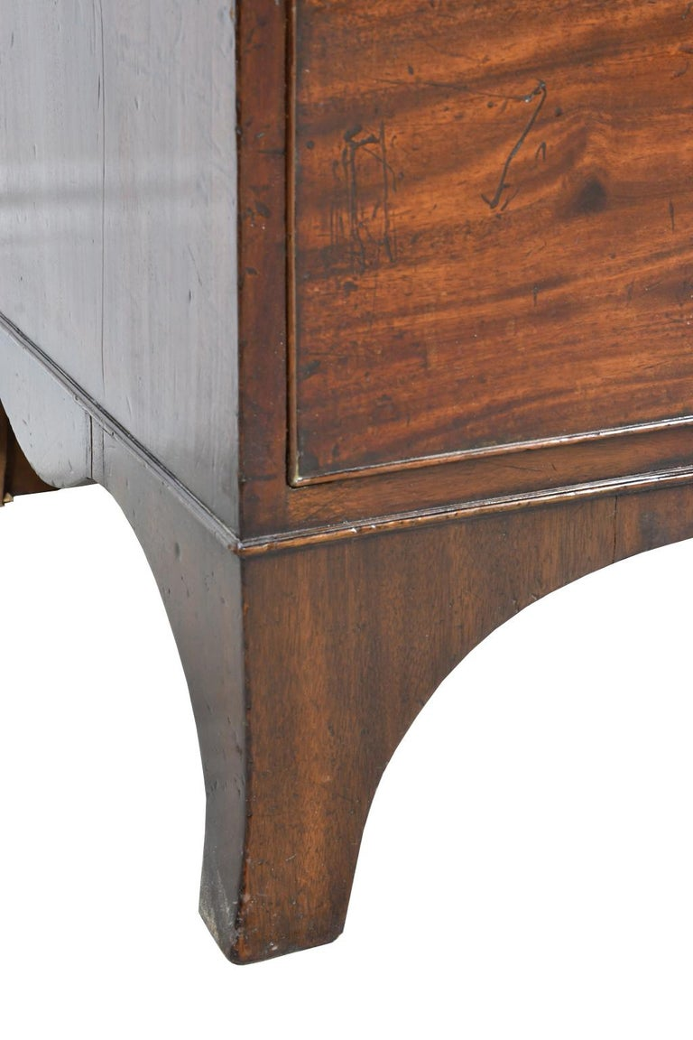 George III/ Hepplewhite Bookcase in Mahogany, Drawer-Front Secretary, circa 1810 For Sale 5