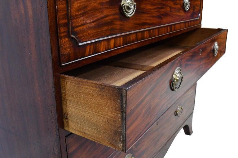 George III/ Hepplewhite Bookcase in Mahogany, Drawer-Front Secretary, circa 1810 For Sale 6