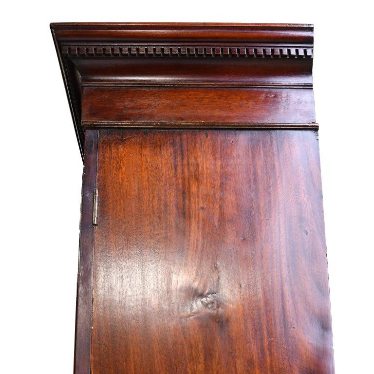 George III/ Hepplewhite Bookcase in Mahogany, Drawer-Front Secretary, circa 1810 For Sale 8