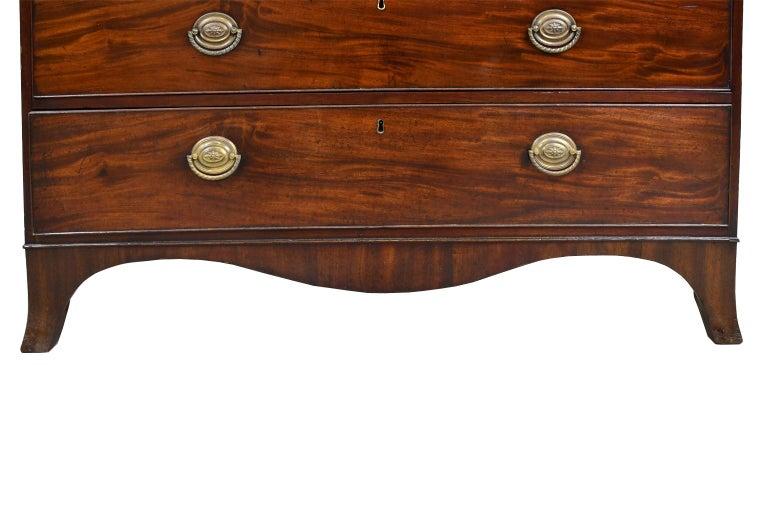 George III/ Hepplewhite Bookcase in Mahogany, Drawer-Front Secretary, circa 1810 For Sale 1