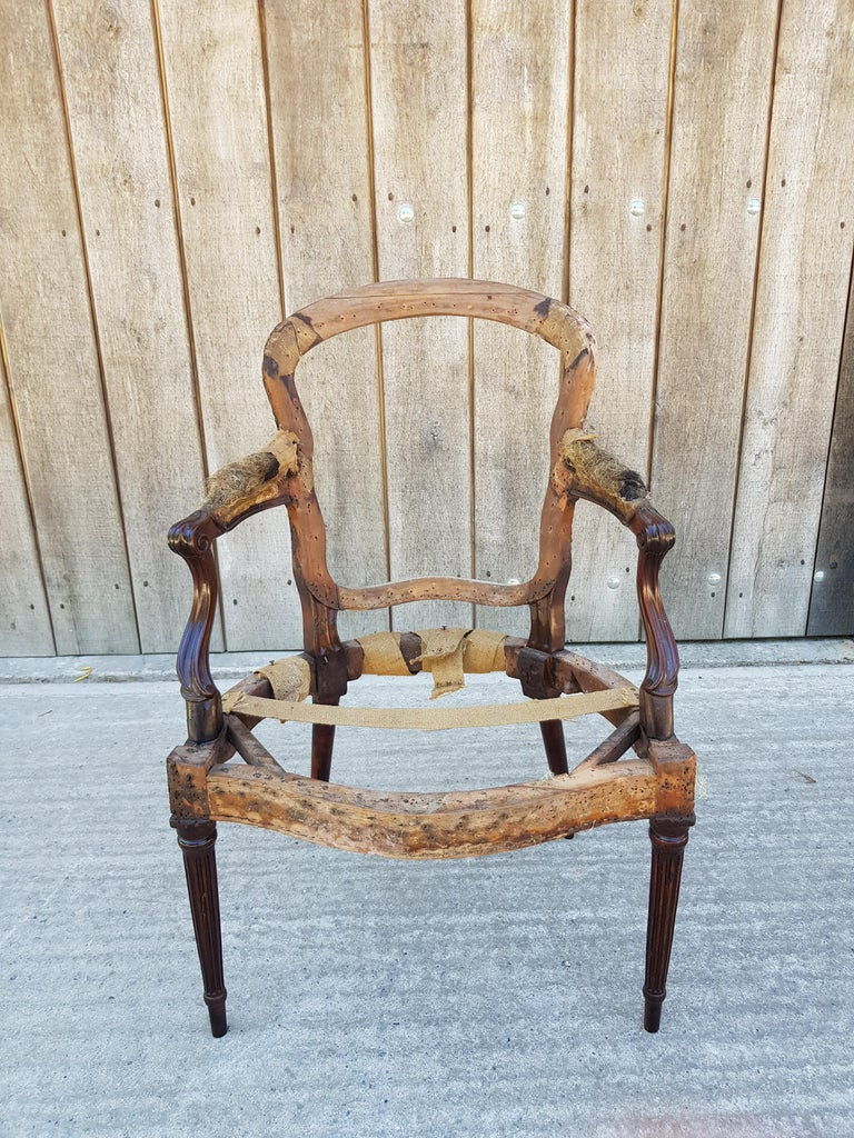 George III Hepplewhite Mahogany Armchair, circa 1780 In Good Condition For Sale In Dallington, East Sussex