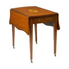 George III Inlaid and Satinwood Pembroke Table