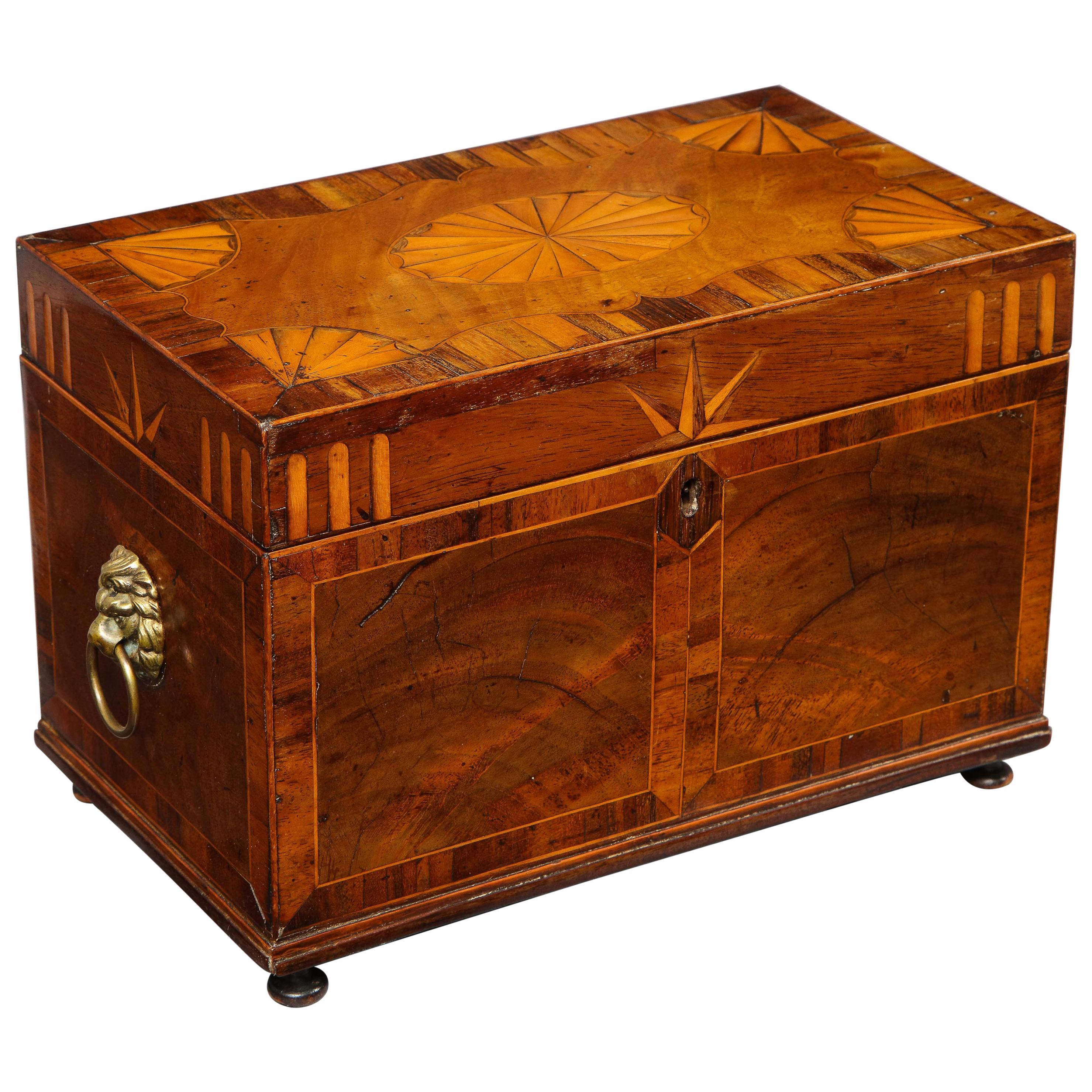 George III Inlaid Tea Caddy