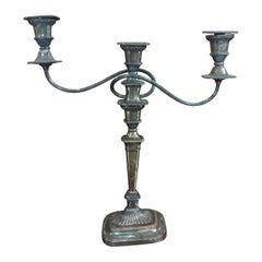 George III Large Silver Elegant Candelabra