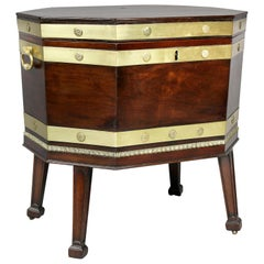 George III Mahogany and Brass Bound Cellarette