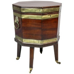 George III Mahogany and Brass Bound Celleret