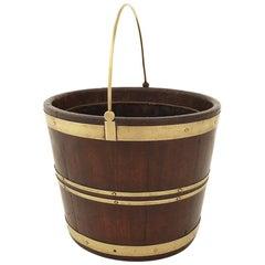 George III Mahogany and Brass Bound Oval Bucket