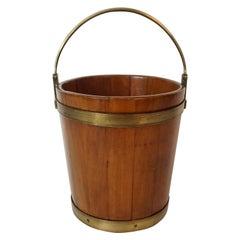 George III Mahogany and Brass Bucket