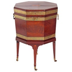 George III Mahogany and Brass Cellarette/Wine Cooler