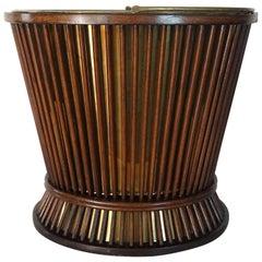 George III Mahogany and Brass Peat or Kindling Bucket, circa 1800