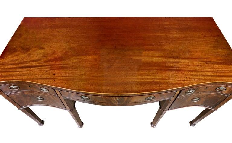 English George III Mahogany and Inlaid Sideboard For Sale