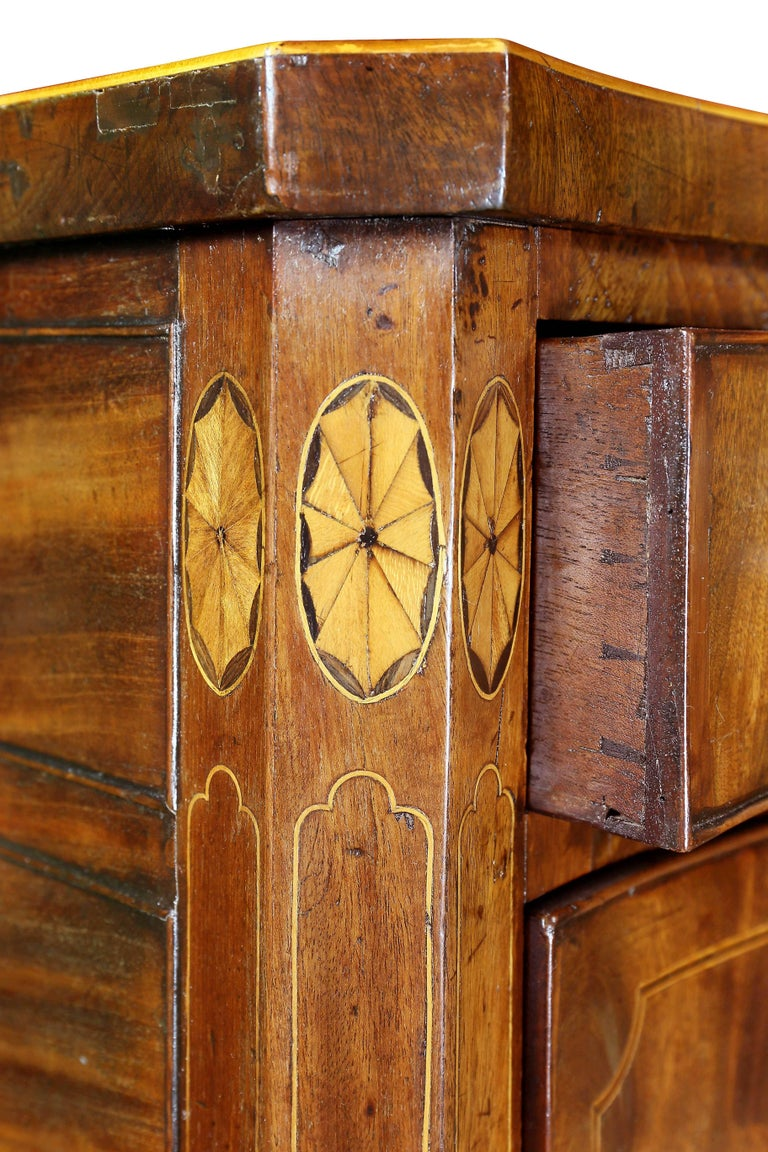Late 18th Century George III Mahogany and Inlaid Sideboard For Sale