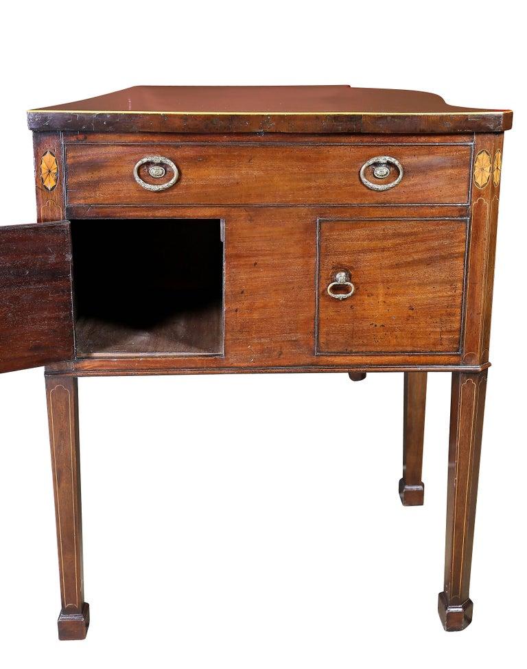 George III Mahogany and Inlaid Sideboard For Sale 1