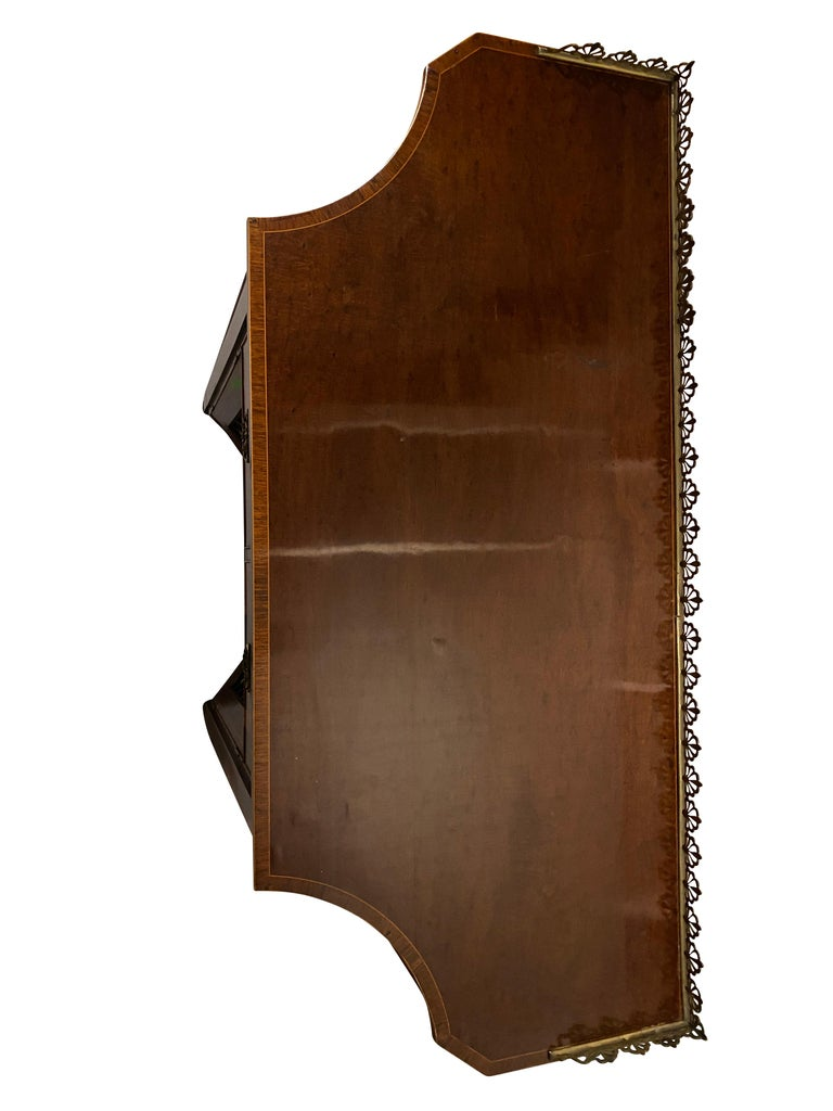 George III Mahogany and Rosewood Credenza For Sale 5