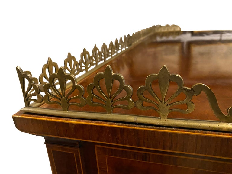 George III Mahogany and Rosewood Credenza For Sale 7