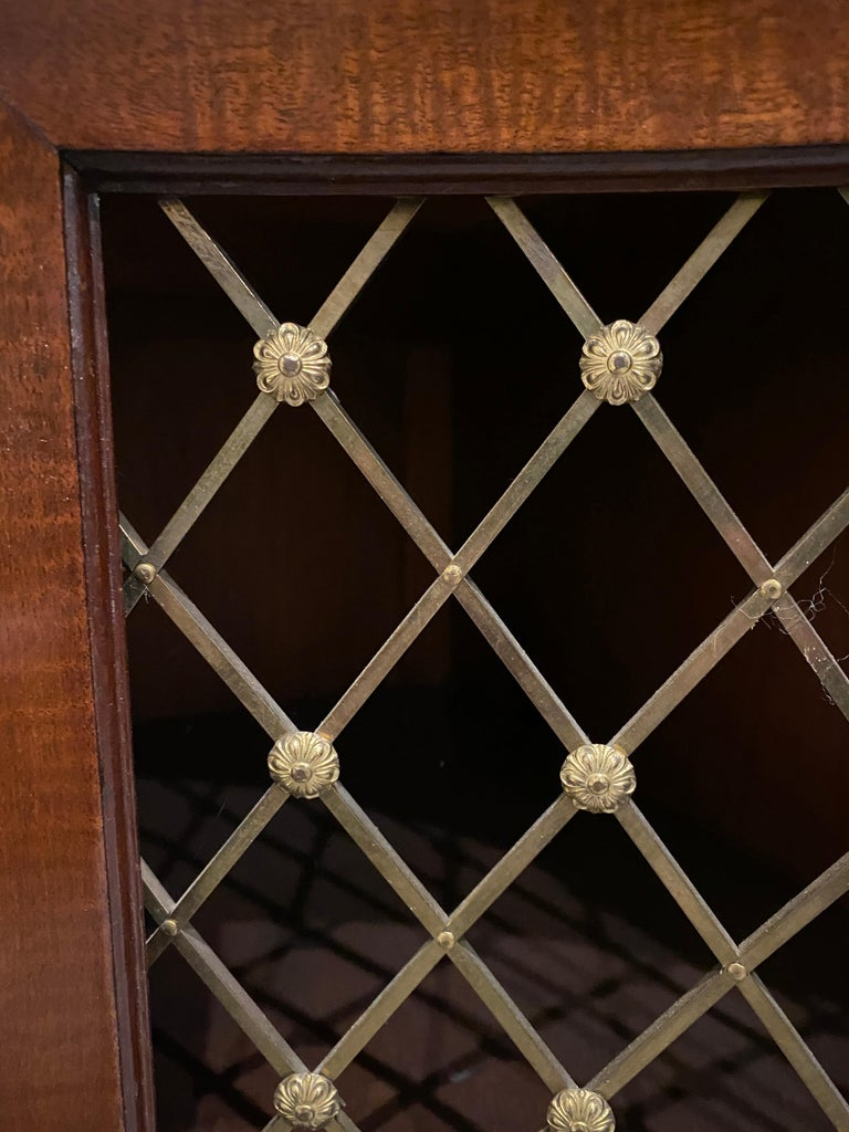 George III Mahogany and Rosewood Credenza For Sale 8
