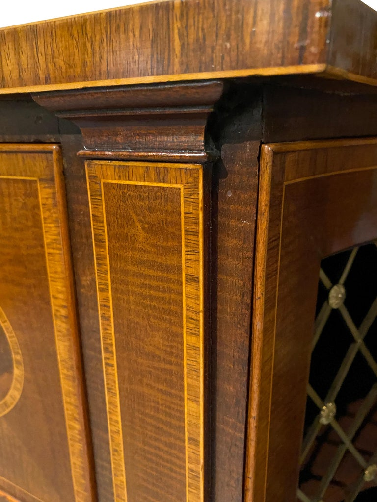 George III Mahogany and Rosewood Credenza For Sale 9