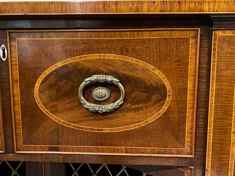 George III Mahogany and Rosewood Credenza For Sale 10