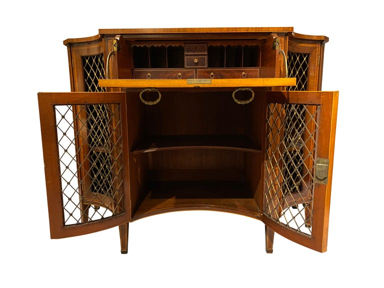 English George III Mahogany and Rosewood Credenza For Sale