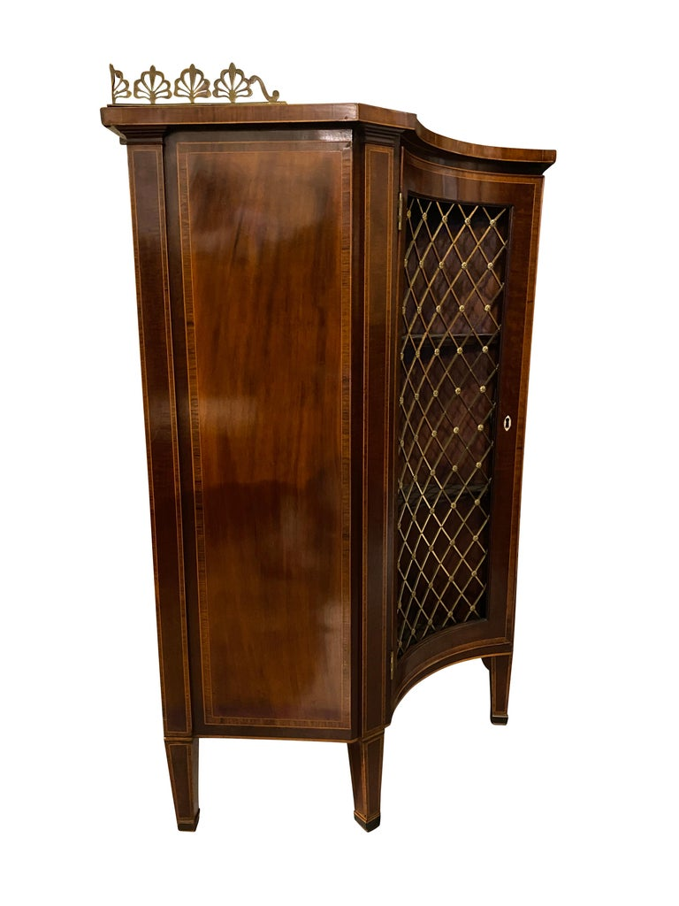 George III Mahogany and Rosewood Credenza For Sale 3