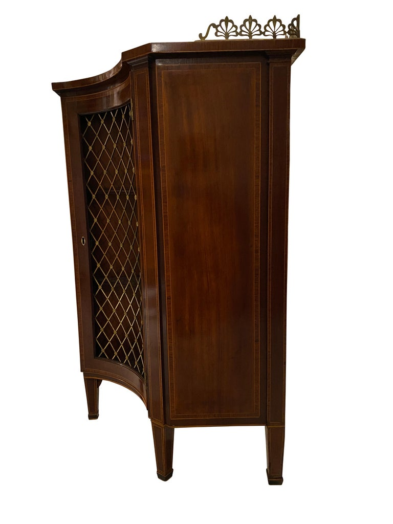 George III Mahogany and Rosewood Credenza For Sale 4