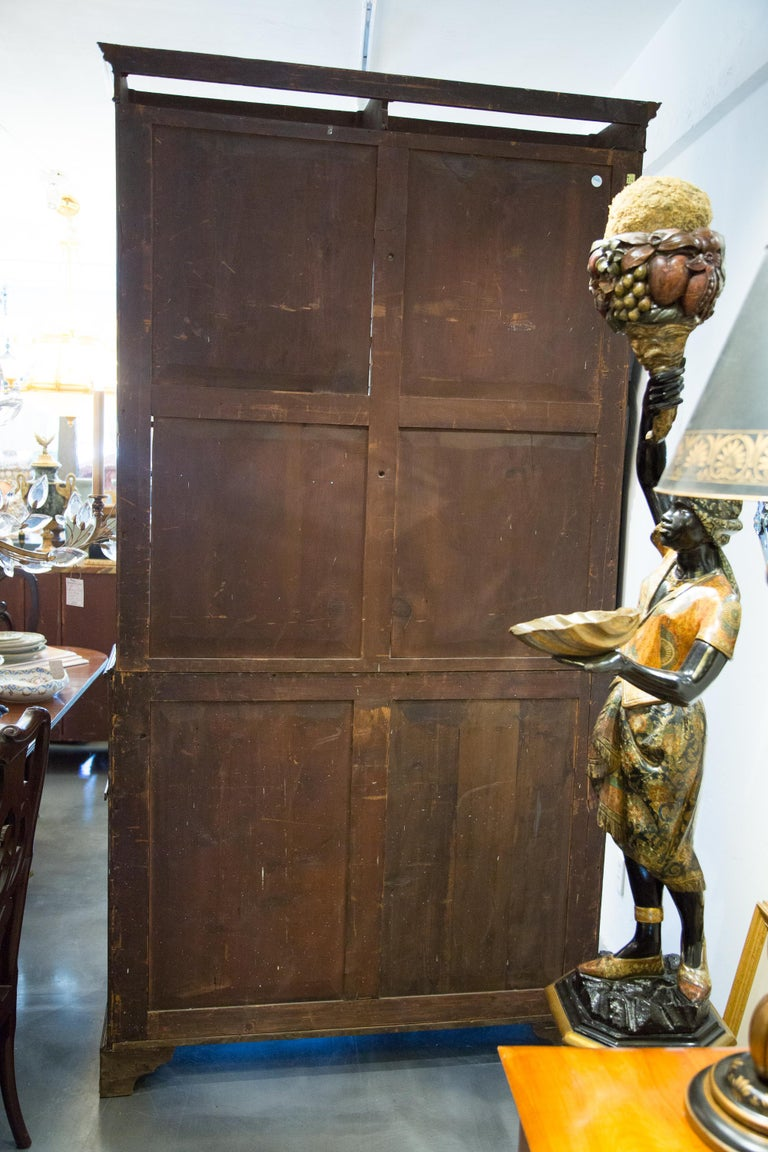 Inlay George III Mahogany and Satinwood Secretary Bookcase, 18th Century For Sale