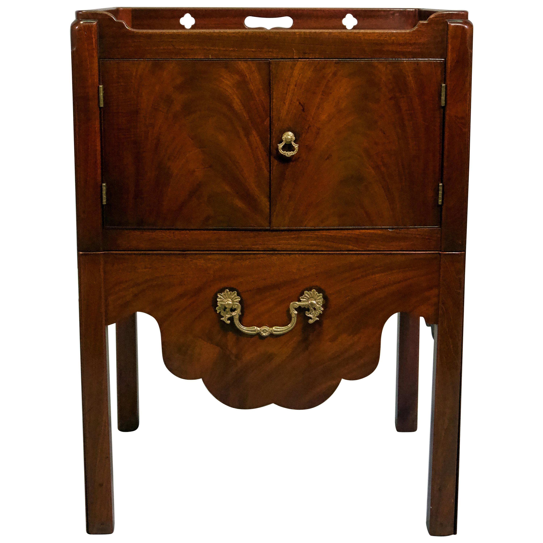 George III Mahogany Bedside Cabinet