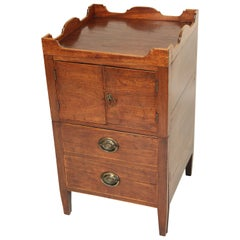 George III Mahogany Bedside Commode / End Table