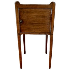 George III Mahogany Bedside Commode with Shaped Gallery Top