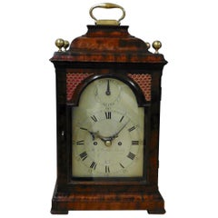George III Mahogany Bell Top Bracket Clock With Verge Escapement by H.Thomas