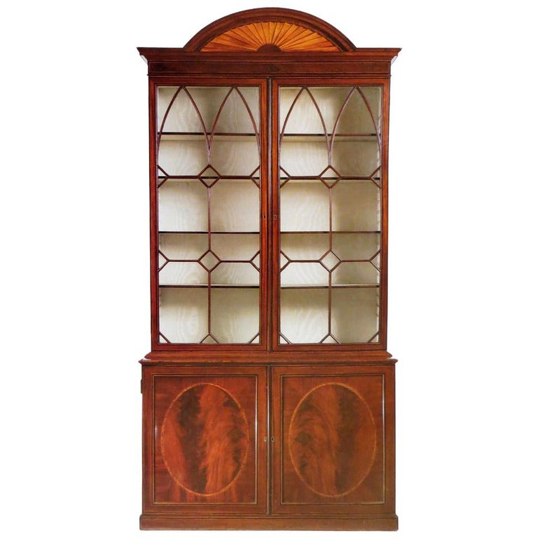 George III Mahogany Bookcase, circa 1785 For Sale