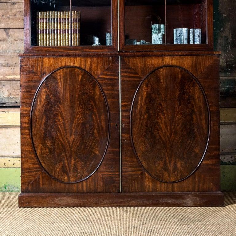 European George III Mahogany Bookcase For Sale