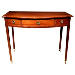 George III Mahogany Bow Fronted Writing Table / Sofa Table, English, circa 1800