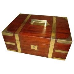George III Mahogany Brass Bound English Letter Box