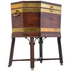 George III Mahogany Brass Bound Wine Cooler