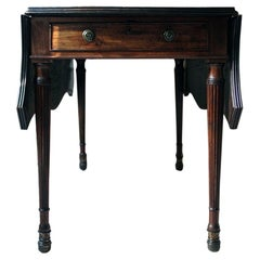 George III Mahogany Butterfly Pembroke Table, circa 1780-1790